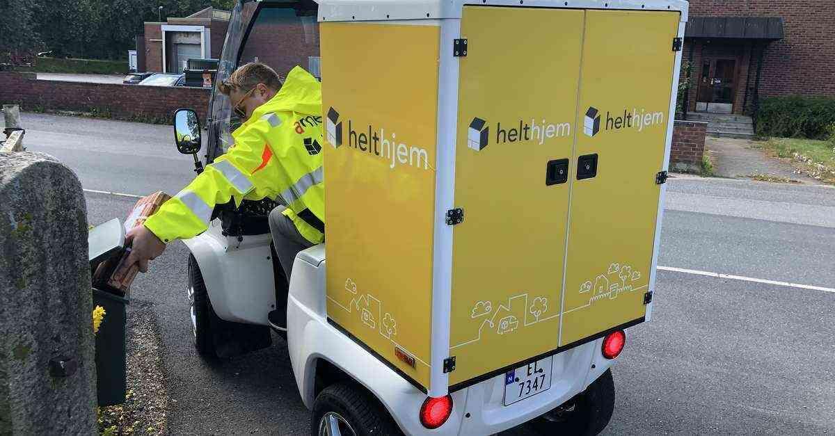 LEVERING: Med de nye el-kjøretøyene kan Helthjem levere pakker enklere, raskere og mer miljøvennlig. Foto: Helthjem