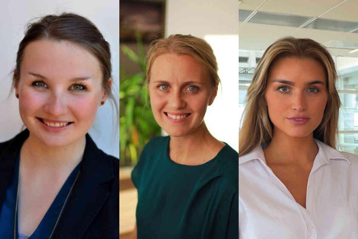 ANSETTER: Helthjem ruster opp for videre vekst. f.v. Freya Medewitz, Katrine Lunde og Synne Haugrønning Braa. Foto: privat
