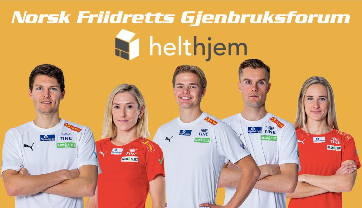 GJENBRUKSFORUM: Norges Friidrettsforbund og Helthjem inngår nytt samarbeid. Foto: Norges Friidrettsforbund