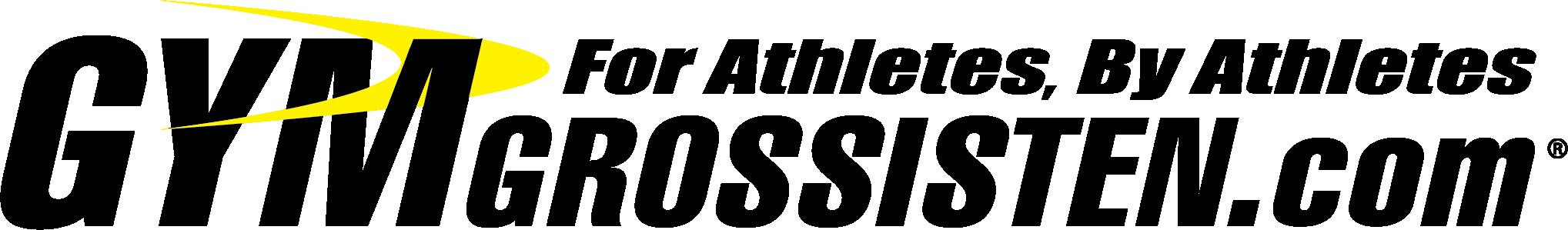 Logo Gymgrossisten transparent inverterad